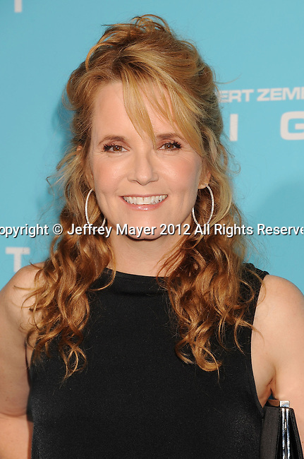 HOLLYWOOD, CA - OCTOBER 23: Lea Thompson arrives at the 'Flight' - Los Angeles Premiere at ArcLight Cinemas on October 23, 2012 in Hollywood, California.