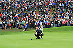 Graeme McDowell on the 16th green at the 2010 Ryder Cup at the Celtic Manor twenty ten course, Newport Wales, 2/10/2010.Picture Fran Caffrey/www.golffile.ie.