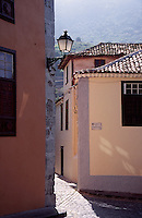 Streetscape at Plaza la Constitucion in Icod de los Vinos, Tenerife, Spain
