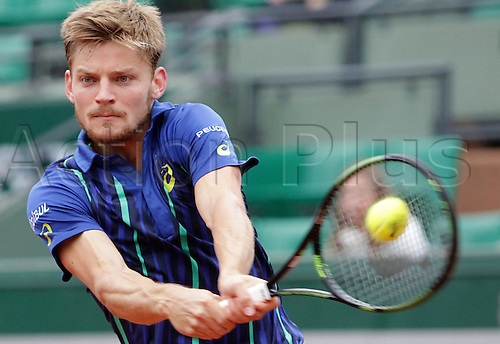 02.06.2016. Roland Garros, Paris, France, French Open tennis championships, day 12. David Goffin (BEL) loses to Dominic Thiem (AUT) in 4 sets in the quarter-final