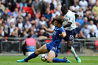 Aleksandar Dragovic of Leicester City and Moussa Sissoko of Tottenham Hotspur during Tottenham Hotspur vs Leicester City, Premier League Football at Wembley Stadium on 13th May 2018