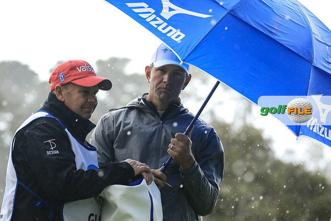 Lucas Glover (USA) during the final round of the AT&amp;T Pro-Am, Pebble Beach Golf Links, Monterey, USA. 10/02/2019<br /> Picture: Golffile | Phil Inglis<br /> <br /> <br /> All photo usage must carry mandatory copyright credit (&copy; Golffile | Phil Inglis)