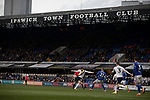 The visitors on the attach during the econd-half as Ipswich Town (in blue) play Oxford United in a SkyBet League One fixture at Portman Road. Both teams were in contention for promotion as the season entered its final months. The visitors won the match 1-0 through a 44th-minute Matty Taylor goal, watched by a crowd of 19,363.