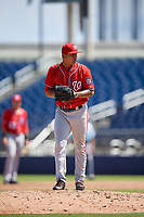 Washington Nationals pitcher Pedro Gonzalez (60) during an Instructional League game against the Miami Marlins on September 26, 2019 at FITTEAM Ballpark of The Palm Beaches in Palm Beach, Florida.  (Mike Janes/Four Seam Images)