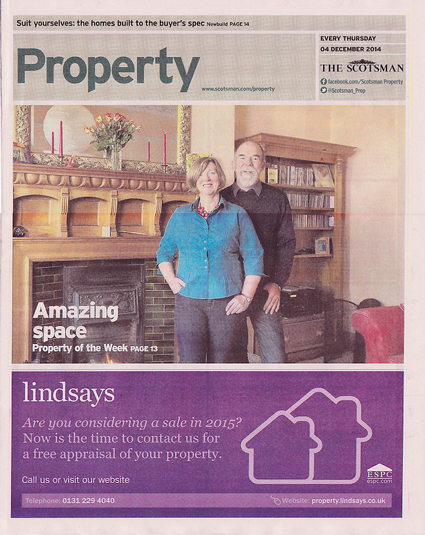 The Scotsman, Property Supplement,  front page.<br />