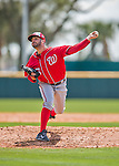 29 February 2016: Washington Nationals pitcher Oliver Perez on the mound during an inter-squad pre-season Spring Training game at Space Coast Stadium in Viera, Florida. Mandatory Credit: Ed Wolfstein Photo *** RAW (NEF) Image File Available ***