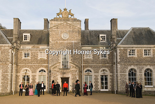 Country mansion British society wealth landed gentry Private home Hampshire. UK 2008