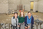 Inspecting the progress of new classroom extension in Firies National school on Wednesday l-r: Eileen Brosnan Principal, Ciara Kearney and Kieran O'Mahony Board of Management