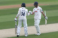 Aaron Beard and Ryan ten Doeschate of Essex enjoy a useful partnership during Essex CCC vs Yorkshire CCC, Specsavers County Championship Division 1 Cricket at The Cloudfm County Ground on 8th July 2019