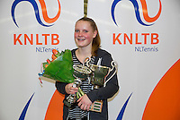 March 8, 2015, Netherlands, Rotterdam, TC Victoria, NOJK, Winner girls 16 years Suzan Lamens <br /> Photo: Tennisimages/Henk Koster