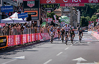 Bob Jungels (LUX/Quick-Step Floors) wins Stage 15: Valdengo &rsaquo; Bergamo (199km) in an elite sprint against other GC contenders<br /> <br /> 100th Giro d'Italia 2017