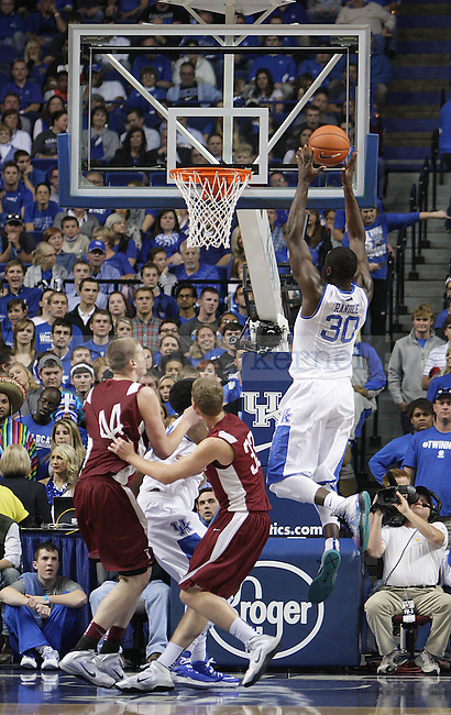 Kentucky Wildcats forward Julius Randle (30) goes to dunk the ball during the second half of men's basketball vs. Transylvania at Rupp Arena in Lexington, Ky., on Friday, November 1, 2013. Photo by Emily Wuetcher | Staff