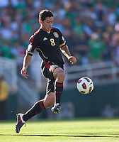 PASADENA, CA – June 25, 2011: Mexico player Isreal Castro (8)  during the Gold Cup Final match between USA and Mexico at the Rose Bowl in Pasadena, California. Final score USA 2 and Mexico 4.