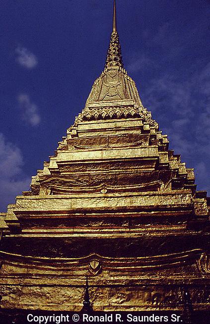 TOP OF CHEDI AT GRAND PALACE BANGKOK THAILAND
