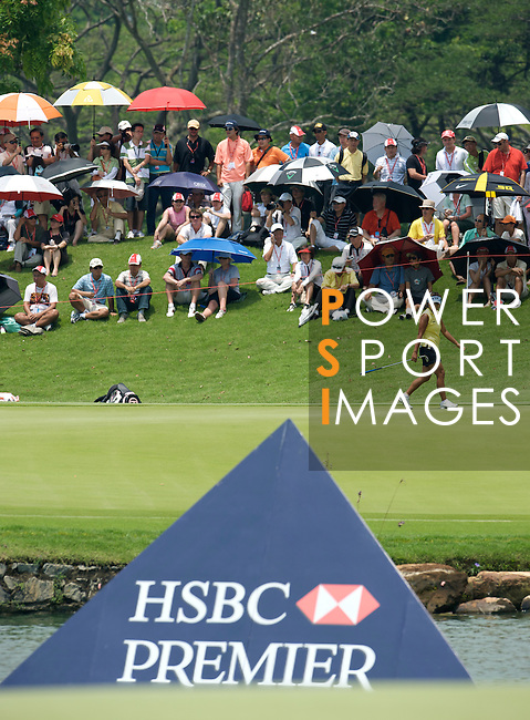 SINGAPORE - MARCH 08:  Mi Hyun Kim of South Korea on the par tree 8th hole during the final round of HSBC Women's Champions at the Tanah Merah Country Club on March 8, 2009 in Singapore.  Photo by Victor Fraile / The Power of Sport Images