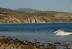 surfers at El Capitan State Beach