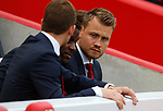 Liverpool's Simon Mignolet sits in the stands before the premier league match at Anfield Stadium, Liverpool. Picture date 27th August 2017. Picture credit should read: Paul Thomas/Sportimage