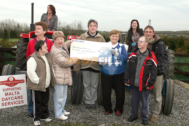 Maxine Williams, Thomas Murray and Síle McDonnell-Smith of Malta Services Drogheda with Angela Boylan, Ann Whearty, Arianne Gannon, Christy Carroll, Rita McAuley and Gerald Traynor at the cheque presentation from Dee Vintage Club who raised money for S.O.F.T., Malta Services Drogheda, and Arthritis Ireland....Photo NEWSFILE/Jenny Matthews.(Photo credit should read Jenny Matthews/NEWSFILE)....This Picture has been sent you under the condtions enclosed by:.Newsfile Ltd..The Studio,.Millmount Abbey,.Drogheda,.Co Meath..Ireland..Tel: +353(0)41-9871240.Fax: +353(0)41-9871260.GSM: +353(0)86-2500958.email: pictures@newsfile.ie.www.newsfile.ie.FTP: 193.120.102.198.