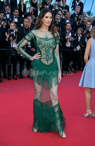 Fr&eacute;d&eacute;rique Bel arrives at the premiere of Ismael's Ghosts (Les Fantomes d'Ismael) during the 70th Annual Cannes Film Festival at Palais des Festivals in Cannes, France, on 17 May 2017. Photo: Hubert Boesl <br />