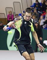 06-03-11, Tennis, Oekraine, Kharkov, Daviscup, Oekraine - Netherlands, J Sergey Stakhovsky