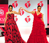 NEW YORK, NY - February 7 : Brie Bella, Nikki Bella attends The American Heart Association's Go Red For Women Red Dress Collection 2019 Presented By Macy's at Hammerstein Ballroom on February 7, 2019 in New York City.<br /> CAP/MPI/JP<br /> &copy;JP/MPI/Capital Pictures