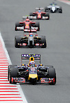 Red Bull's driver Daniel Ricciardo during a race at the Circuit de Catalunya on May 11, 2014. <br /> PHOTOCALL3000/PD