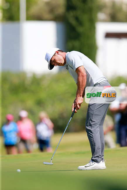 Thorbjorn Olesen (DEN) on the 9th during the 1st round of the 2017 Portugal Masters, Dom Pedro Victoria Golf Course, Vilamoura, Portugal. 21/09/2017<br /> Picture: Fran Caffrey / Golffile<br /> <br /> All photo usage must carry mandatory copyright credit (&copy; Golffile | Fran Caffrey)