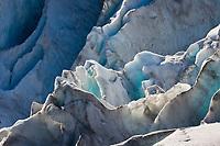 Crevasses in Exit glacier, Kenai Fjords National Park,  Kenai Peninsula, southcentral, Alaska.
