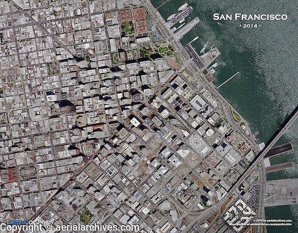 aerial photo puzzle of San Francisco, California, 2014