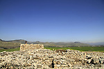 Israel, Upper Galilee, Tel Hazor, a World Heritage site, the Israelite fortress built in the 9th Century B.C