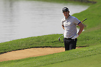 Danny Willett (ENG) in a bunker at the 9th green during Sunday's Final Round of the 2014 BMW Masters held at Lake Malaren, Shanghai, China. 2nd November 2014.<br /> Picture: Eoin Clarke www.golffile.ie