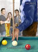 Marcello, MASCULIN, MÄNNLICH, MASCULINO,pool billiards, paintings+++++,ITMCEDM1055,#M# ,sports ,everyday