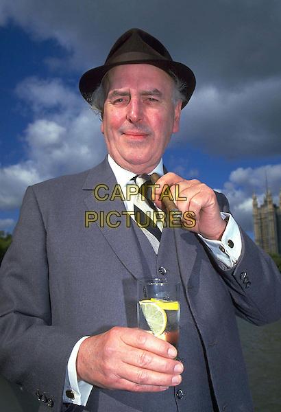 GEORGE COLE..Ref: 026..cigar, glass, drink, hat, half length, half-length..www.capitalpictures.com..sales@capitalpictures.com..©Capital Pictures..
