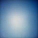 Blue sky with gradation from light blue to dark blue