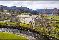 BNPS.co.uk (01202)558833<br /> Pic:    Savills/BNPS<br /> <br /> The main house on the estate.<br /> <br /> A country estate that has its own farm, tea rooms and glamping business in the heart of the Lake District has gone on market for those looking to escape the rat race.<br /> <br /> Backside Farm sits on the banks of Ullswater - the second largest lake in the Cumbrian National Park - and has one mile of water access as well as stunning views of the mountains. <br /> <br /> The outgoing owners have been on the 195 acre estate for over a decade and in that time they have renovated the large five bedroom farmhouse.<br /> <br /> They also set up the tea rooms and two holiday rental cabins and have established them as a business.