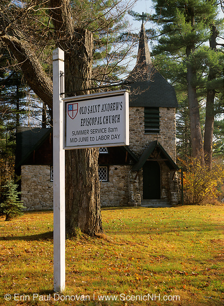 Old Saint Andrews Episcopal Church located in New London, New Hampshire USA which is part of New England.