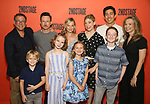"""Back row: Michael Greif, Brad Heberlee, Samantha Mathis, Susannah Flood, Kim Fischer, Bess Wohl Front row: Harrison Fox, Maren Heary, Casey Hilton, Ryan Foust during the Second Stage Theater's """"Make Believe"""" cast photo call at the Second Stage Theatre Theatre on July 23, 2019 in New York City."""