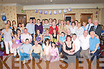 Mary O'Sullivan St Stephens Park Castleisland seated centre celebrates her 60th birthday with her family and friends in the River Island Hotel Castleisland on Saturday night.