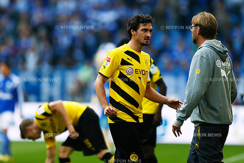 Mats Hummels (Dortmund), SEPTEMBER 27, 2014 - Football / Soccer : Bundesliga match between FC Schalke 04 2-1 Borussia Dortmund at Veltins Arena in Gelsenkirchen, Germany. (Photo by D.Nakashima/AFLO)