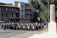 Roma, 8 Settembre 2014<br /> Porta San Paolo.<br /> Commemorazione per i caduti dell'8 settembre 1943 per la difesa di Roma dal nazifascismo.<br /> La banda musicale dei Granatieri di Sardegna.<br /> September 8,2014.<br /> Memorial at the Porta San Paolo for the fallen in the defense of Rome from nazi-fascism.