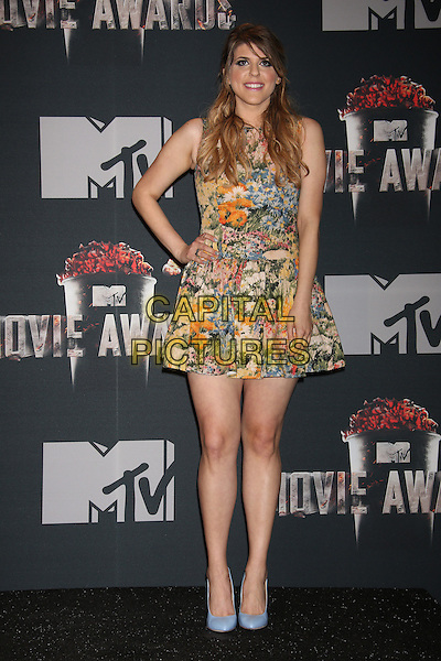 LOS ANGELES, CA - APRIL 13: Molly Tarlov in the press room at the 2014 MTV Movie Awards at Nokia Theatre L.A. Live on April 13, 2014 in Los Angeles, California. <br /> CAP/MPI/JO<br /> &copy;Janice Ogata/MPI/Capital Pictures