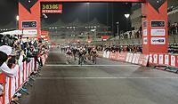 PICTURE BY MARK GREEN/SWPIX.COM ATP  Tour of Abu Dhabi - Yas Island Stage, UAE, 26/02/17 - Caleb Ewan wins sprint finish