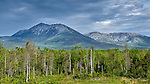 Mount Katahdin photographed from a remote location in Northern Maine