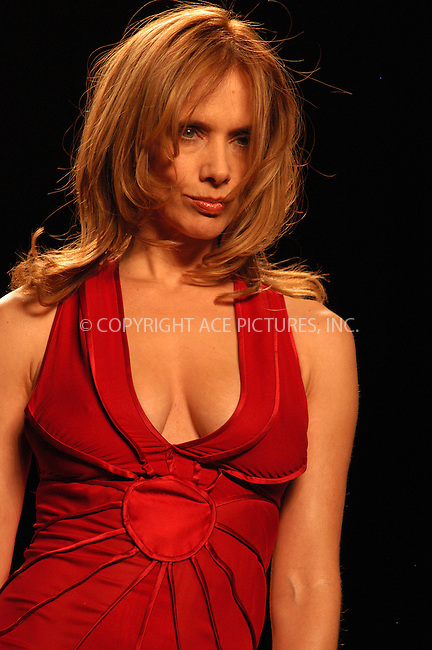 WWW.ACEPIXS.COM . . . . . ....NEW YORK, FEBRUARY 4, 2005....Rosanna Arquette walks the runway in The Heart Truth Red Dress Collection at Olympus Fashion Week.....Please byline: KRISTIN CALLAHAN - ACE PICTURES.. . . . . . ..Ace Pictures, Inc:  ..Philip Vaughan (646) 769-0430..e-mail: info@acepixs.com..web: http://www.acepixs.com
