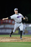 Winston-Salem Dash relief pitcher Wyatt Burns (1) in action against the Myrtle Beach Pelicans at TicketReturn.com Field on May 16, 2019 in Myrtle Beach, South Carolina. The Dash defeated the Pelicans 6-0. (Brian Westerholt/Four Seam Images)