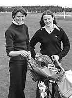Carole and Philomena Wickham, amateur golfers, Laytown/Bettystown Golf Club, Rep of Ireland, who were competitors in the Irish Ladies Close Championships at Murvagh, Co Donegal, 16th May 1979. 197905160026..Copyright Image from Victor Patterson, 54 Dorchester Park, Belfast, UK, BT9 6RJ..Tel: +44 28 9066 1296.Mob: +44 7802 353836.Voicemail +44 20 8816 7153.Skype: victorpattersonbelfast.Email: victorpatterson@me.com.Email: victorpatterson@ireland.com (back-up)..IMPORTANT: If you wish to use this image or any other of my images please go to www.victorpatterson.com and click on the Terms & Conditions. Then contact me by email or phone with the reference number(s) of the image(s) concerned.