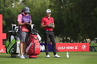 Joakim Lagergren (SWE) on the 4th tee during Round 2 of the Omega Dubai Desert Classic, Emirates Golf Club, Dubai,  United Arab Emirates. 25/01/2019<br /> Picture: Golffile | Thos Caffrey<br /> <br /> <br /> All photo usage must carry mandatory copyright credit (© Golffile | Thos Caffrey)