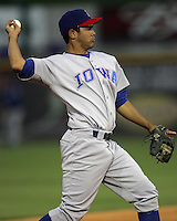 Iowa Cubs 3B Carlos Rojas during the 2007 Pacific Coast League Season. Photo by Andrew Woolley/ Four Seam Images.