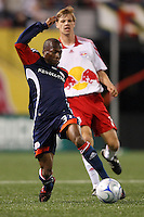 New England Revolution midfielder Sainey Nyassi (31). The New York Red Bulls and the New England Revolution played to a 1-1 tie during a Major League Soccer match at Giants Stadium in East Rutherford, NJ, on April 19, 2008.