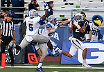 Nevada's Richy Turner (2) catches a touchdown pass against the Air Force defense during the first half of an NCAA football game in Reno, Nev., on Saturday, Sept. 28, 2013. (AP Photo/Cathleen Allison)